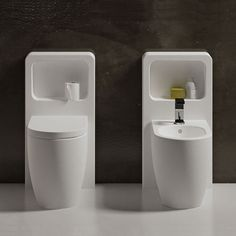 Back to wall wc colored Brina Smile - Water closet colored bathroom Ceramica Cielo