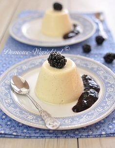 Krem bawarski Panna Cotta, Deserts, Food And Drink, Pudding, Sweets, Snacks, Cooking, Ethnic Recipes, Ghibli
