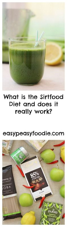 A diet that includes chocolate, red wine and coffee? A diet that doesn't involve counting calories, syns or smart points? A diet that doesn't involve fasting and yet claims to bring many of the same benefits as the 5:2 diet? A diet where average weight loss is 7lb in the first 7 days? Sounds just a little bit too good to be true? I felt I had to check the Sirtfood Diet out… #sirtfood #sirtfooddiet #sirtfoodrecipes #greenjuice #sirtfoodgreenjuice #weightloss #weightlossplan #easypeasyfoodie Vegetable Smoothies, Fruit Smoothies, Smoothie Recipes, Diet Recipes, Smoothies Coffee, Alkaline Recipes, Vegetarian Recipes, Juice Diet, 5 2 Diet