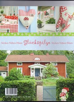 -/- - - - Gluckspilze - - - mixed crafts in red, green, white = elves, mushrooms, hearts - cute