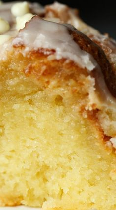 The Most Ridiculous Vanilla Cake ~ Seriously the softest most moist cake EVER, it literally melts in your mouth!