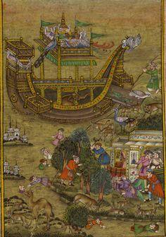 Mughal Akbar Miniature Painting