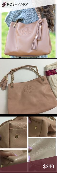 1d3a9c994d60 Tory Burch Thea Slouchy Tote AUTHENTIC!!! Tory Burch Thea Chain Slouchy Tote  in