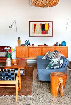 How Mad Men Live: 24 Mid-Century Modern Rooms via Brit + Co.