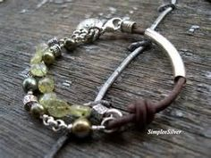 freshwater pearl and leather jewelry - - Yahoo Image Search Results