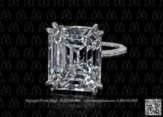 Emerald cut engagement ring by Leon Mege