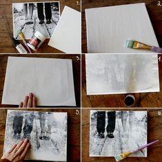 DIY Photo on Canvas