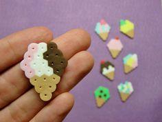8pc ICE CREAM CONES Magnet Set by RainbowMoonShop on Etsy