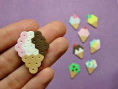 8pc ICE CREAM CONES Magnet Set by RainbowMoonShop on Etsy