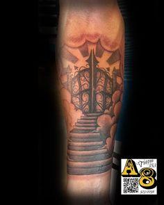 custom heavens stairway gates dove tattoo by enoki by on deviantart. Black Bedroom Furniture Sets. Home Design Ideas