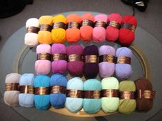 """For anyone in love with Lucy of Attic24...famous for her crochet designs and eye for color ~ yarn companies have started creating """"Lucy Packs"""" that contain the yarns Lucy uses. Purchase at www.deramores.com (free shipping to U.S.)"""