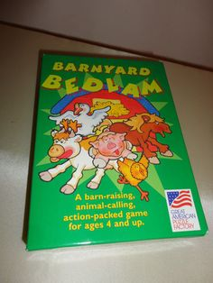 Barnyard Bedlum #786 Kids animal action learning puzzle game ages 4+ find me at www.dandeepop.com