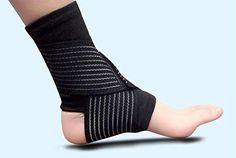 1pcs High Quality Outdoor Sports Spirally Ankle Brace Support Pro Level Soccer Basketball Ankles Protection Adjustable Elastic (Color Random) *** See this great product.