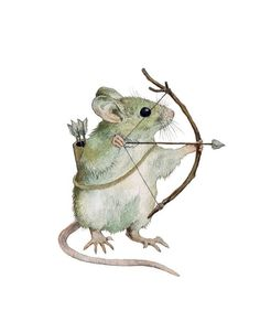 Woodland Creatures, Woodland Animals, Fantasy Warrior, Fantasy Art, Rat Tattoo, Animal Art Prints, Animal Statues, Color Pencil Art, Whimsical Art