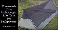 Homemade Ultra Lightweight Bivy Tent For Backpacking ►► http://off-grid.info/blog/homemade-ultra-lightweight-bivy-tent-for-backpacking/?i=p