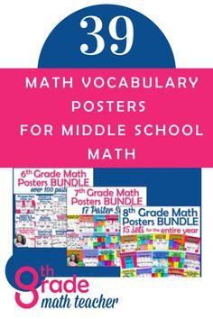 Classroom Setup, Math Classroom, Classroom Organization, Ged Math, Math Puns, Math Word Walls, Math Anchor Charts, Math Poster, Math Vocabulary