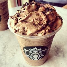 Starbucks' new frappuccino, mocha cookie crumble. NEED. RIGHT. NOW.