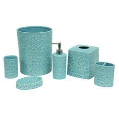 Jessica Simpson Bonito Bath Accessories Toothbrush Holder Blue