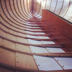 feralseas:  Framed and floored #boatbuilding #herreshoff