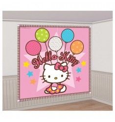 Kids Birthday Party Decoration Hello Kitty Scene Setter Add On Holiday Door Decorations, Birthday Party Decorations, Birthday Parties, Anniversaire Hello Kitty, Chat Hello Kitty, Scene Setters, Hello Kitty Birthday, Hello Kitty Collection, Party Scene