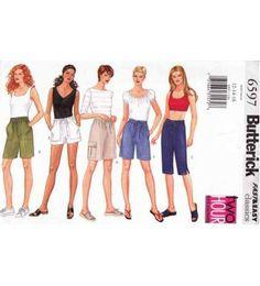 Butterick 6597 Sewing Pattern Women's / Petite's Shorts Pants 12-14-16 Fast & Easy Uncut