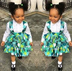 Latest Ankara Styles: Ankara Styles For Kids - African Fashion Styles Baby African Clothes, African Dresses For Kids, African Children, Latest African Fashion Dresses, Dresses Kids Girl, Kids Outfits Girls, Ankara Fashion, African Men, African Style