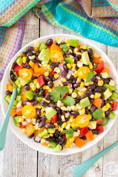 Black Bean Corn Salad - a great summer side dish