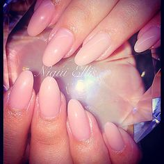 Cover Pink Almond Nails #natural