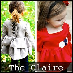 """The """"Claire"""" Top/dress 6m-4T - the ruffles kill me - pattern to make your own baby clothes"""