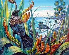 Irina Velman Irina Velman is a West Auckland artist whose paintings can be found in private collections throughout the world. Known for her distinctive style and vibrant colours, Irina's inspiration comes from the dramatic beauty of New Zealand. Painting Inspiration, Art Inspo, Irina S, New Zealand Art, Nz Art, Maori Art, Kiwiana, Wall Art For Sale, Canvas Prints
