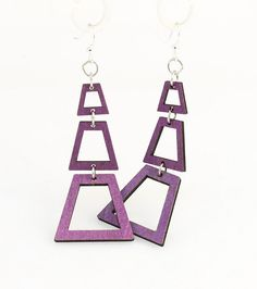 Judith's pyramid - Laser Cut Wood Earrings from Sustainable Resources (12.95 USD) by GreenTreeJewelry