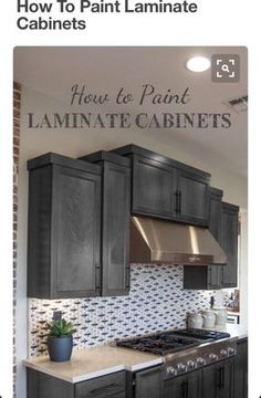 Kitchen Cabinets How To Paint Laminate Cabinets - Painting laminate requires that a few things be done correctly or you will run into problems. Learn more about how to paint laminate correctly. Diy Kitchen Cabinets, Kitchen Redo, Kitchen Remodel, Kitchen Ideas, Kitchen Updates, Melamine Cabinets, Kitchen Laminate, Beige Kitchen, Kitchen Makeovers
