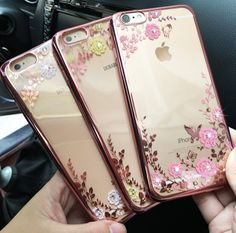 Luxury Fashion Girl's Golden Case Cover for iPhone 5s 6s 6 Plus