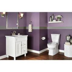 delta riosa 2piece 128 gpf elongated toilet in white purple