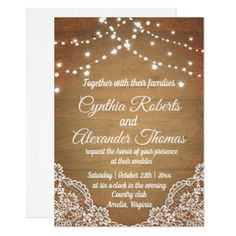 Wedding Lights Invitation - love gifts cyo personalize diy