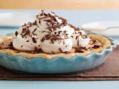 Chocolate Silk Pie -just made this and it is light and delicious!