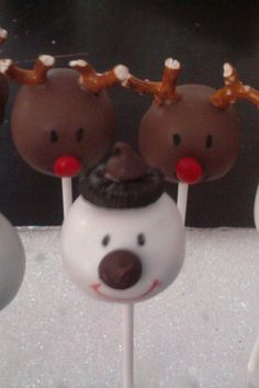 reindeer and snowman lollipop inspiration