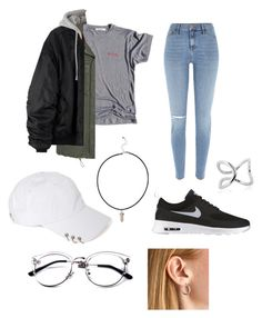 """""""Bts suga inspired outfit"""" by vojeda0 ❤ liked on Polyvore featuring MANGO, River Island, NIKE and Bernarda"""