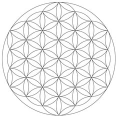 Flower of Life Mandala coloring page from Pattern category. Select from 21188 printable crafts of cartoons, nature, animals, Bible and many more.