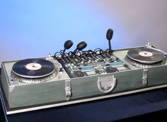 """""""The 10 Most Creative Themed Cakes Ever Made"""" -- Shown: """"Turntables Cake by Cake Girls"""""""