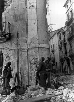 Robert Capa - Spain. Aragon region. Town of Teruel. Republican offensive to recapture the city from Franco's supporters. December 1937.: