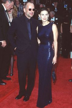Demi Moore in Norman Norell at the 1997 Emmys