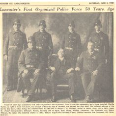 Lancaster, Ohio First organized Police Force