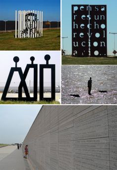 "Parque de la Memoria. This is a collage of just 4 things to be seen at this memorial to the victims of the 1976–83 military regime, a period of unprecedented state-sponsored violence in Argentina. It is located along the Río de la Plata, on Buenos Aires' North Costanera Ave. About 300 meters north of the park is a military airport that was utilized for the ""flights of death"" during which victims of the Military Junta government were thrown into the river & sea. Watch the video."