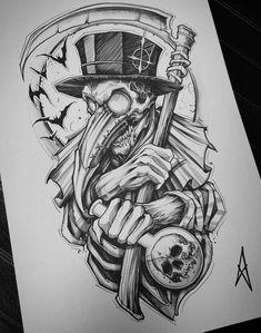 Dark Art Drawings, Tattoo Design Drawings, Tattoo Sleeve Designs, Tattoo Sketches, Art Sketches, Sleeve Tattoos, Dark Art Tattoo, Body Art Tattoos, Arabic Tattoos