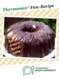 Recipe Chocolate sour cream cake by thermifyme, learn to make this recipe easily in your kitchen machine and discover other Thermomix recipes in Baking - sweet. Sour Cream Chocolate Cake, Sour Cream Cake, Recipe Community, Chocolate Recipes, Doughnut, Sweet Recipes, Cocoa, Cakes, Baking