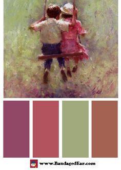 Summer Color Palette: Summer Swing, Art Print by Richard Judson Zolan