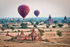 Balloons over Bagan | Myanmar