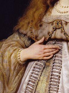 Rembrandt, Artemisia,   detail, 1634