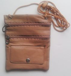 Tan Bolso bolsa bolsa Pasaporte ID 1 Nr Una pieza cuero Marrón Monedero ZqRr4Z